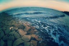 Il mare guadagna la terra Immagini Stock Libere da Diritti