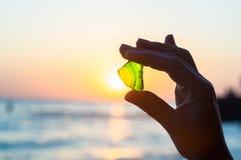 Il mare ha lisciato il vetro verde disponibile fotografie stock libere da diritti