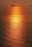 Il mare nel colore dorato Fotografia Stock Libera da Diritti