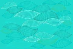 Il mare ondeggia l'illustrazione Elementi per il disegno Immagini Stock Libere da Diritti