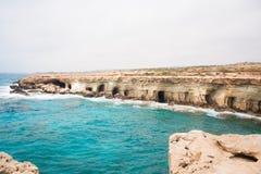 Il mare scava la vista Immagini Stock Libere da Diritti