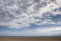 Il mare solo di HDR della spiaggia di Barcellona ondeggia il giorno soleggiato Fotografie Stock Libere da Diritti