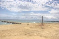 Il mare solo di HDR della spiaggia di Barcellona ondeggia il giorno soleggiato Fotografia Stock