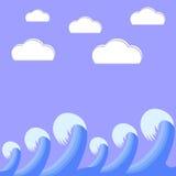 Il mare tesse Royalty Illustrazione gratis