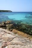 Il mare trasparente di Bonifacio, Corsica, Francia Fotografia Stock
