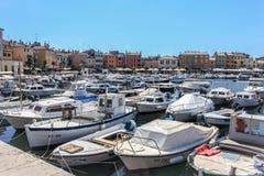 Il marinaio e l'Adriatico vedono in Croazia Fotografia Stock