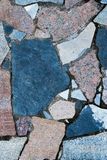 Il marmo ruvido piastrella i colori differenti fotografia stock libera da diritti