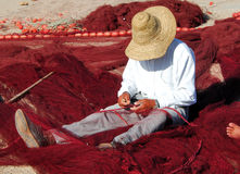 Il Marocco, Essaouira: pescatore Fotografie Stock