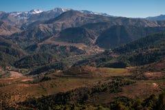 Il Marocco l'alta vista della catena montuosa dell'atlante Immagini Stock