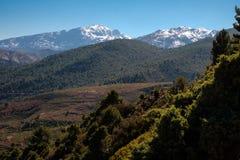 Il Marocco l'alta vista della catena montuosa dell'atlante Fotografia Stock Libera da Diritti