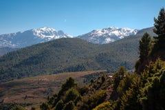 Il Marocco l'alta vista della catena montuosa dell'atlante Fotografia Stock