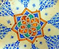 Il Marocco, Marrakesh: decorazione su di ceramica Fotografia Stock Libera da Diritti