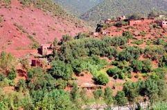 Il Marocco, Marrakesh: paesaggio della valle di Ourika Fotografia Stock