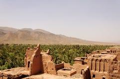 Il Marocco, valle di Draa, Kasbah di Tamnougalt Immagini Stock