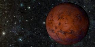 Il Marte sparato da spazio Immagine Stock