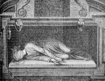 Il martirio di St Cecilia da Stefano Maderno immagini stock