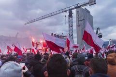 Il marzo annuale della festa dell'indipendenza nazionale 2017 del ` s della Polonia Fotografie Stock Libere da Diritti