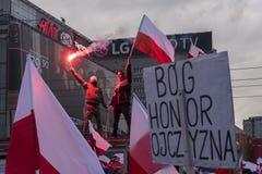 Il marzo annuale della festa dell'indipendenza nazionale 2017 del ` s della Polonia Fotografia Stock Libera da Diritti