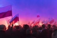 Il marzo annuale della festa dell'indipendenza nazionale 2017 del ` s della Polonia Immagine Stock