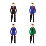 Il maschio calcola gli avatar, icone Gente di affari Fotografia Stock Libera da Diritti