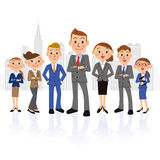 Il maschio ha orientato il gruppo e la costruzione dell'uomo d'affari Immagini Stock