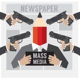 Il mass media è l'ostaggio Fotografie Stock