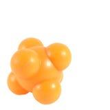 Il massaggio di gomma della palla arancio per allevia il percorso di ritaglio dei punti di dolore Fotografie Stock Libere da Diritti