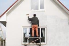 Il Master dipinge la parete immagini stock libere da diritti