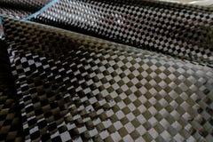 Il materiale automobilistico fa dal composto della fibra del carbonio immagini stock
