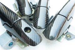 Il materiale automobilistico fa dal composto della fibra del carbonio immagine stock