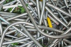 Il materiale d'acciaio del residuo del rottame ricicla Immagine Stock
