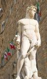 Il materiale illustrativo nel della Signoria della piazza a Firenze Fotografia Stock Libera da Diritti
