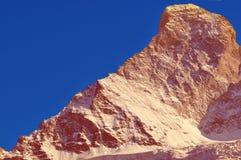 Il Matterhorn e la cresta di Hornli Fotografia Stock Libera da Diritti