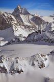 Il Matterhorn in inverno Immagine Stock