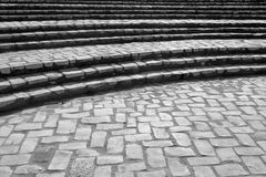 Il mattone di pietra curvo fa un passo (1) Fotografia Stock Libera da Diritti