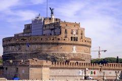 Il mausoleo di Hadrian - Castel Sant ' Angelo Fotografie Stock Libere da Diritti