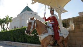Il mausoleo di Mohammed V stock footage