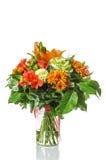 Il mazzo di brassica, è aumentato, alstroemeria, ortensia, Chrysanthem Fotografie Stock