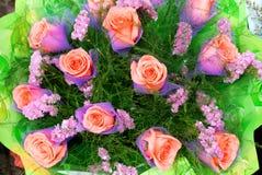 Il mazzo di rose Fotografia Stock
