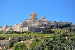 Il Mdina e la capitale antica di Malta Fotografia Stock Libera da Diritti