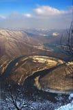 Il meandro ad ovest di Morava immagini stock