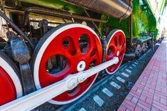 Il meccanismo dell'attuatore del Soviet si buca la locomotiva del trasporto Fotografia Stock Libera da Diritti