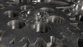 Il meccanismo di ingranaggio del metallo gira royalty illustrazione gratis