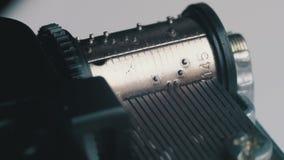 Il meccanismo di Music Box gira stock footage