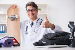 Il medico che va mette in mostra durante l'intervallo di pranzo Immagine Stock Libera da Diritti