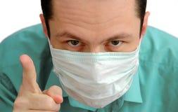 Il medico degli uomini minaccia la barretta Immagini Stock Libere da Diritti