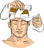 Il medico fa una fasciatura Immagini Stock