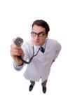 Il medico maschio isolato sui precedenti bianchi Fotografia Stock Libera da Diritti