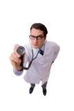 Il medico maschio isolato sui precedenti bianchi Fotografie Stock