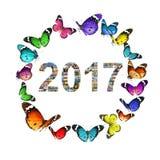 Il Mediterraneo del nuovo anno Immagini Stock Libere da Diritti